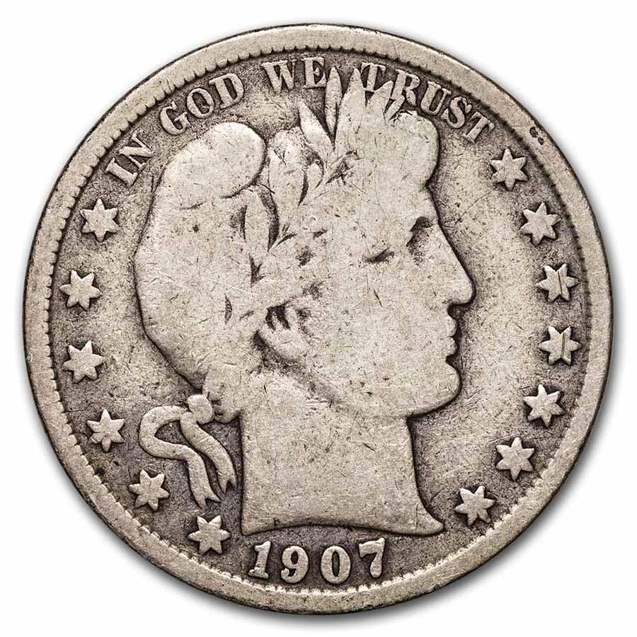 1907-S Barber Half Dollar VG