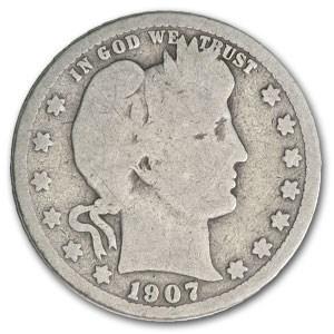 1907-S Barber Quarter Good
