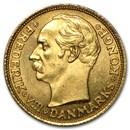 1908-1909 Denmark Gold 10 Kroner Frederik VIII BU