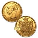 1908-1912 Denmark Gold 20 Kroner Frederik VIII BU