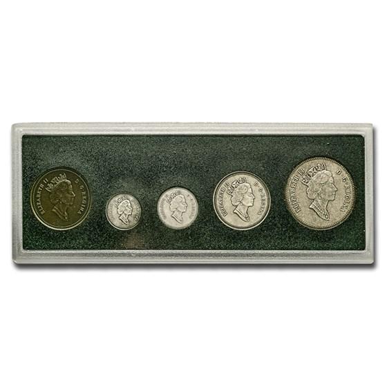 1908-1998 Canada 5-Pc Silver Mint Set BU/Matte (w/COA)
