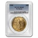 1908 $20 Saint-Gaudens Gold Double Eagle No Motto MS-63 PCGS