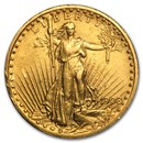 1908 $20 Saint-Gaudens Gold Double Eagle w/Motto (Cleaned)