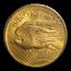 1908 $20 Saint-Gaudens Gold No Motto MS-64 PCGS (Rough Rider)