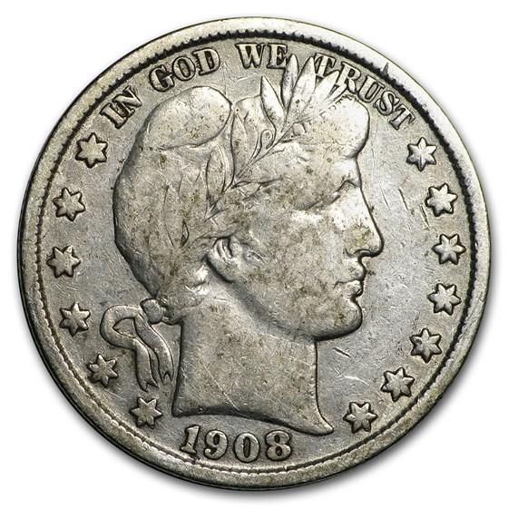 1908 Barber Half Dollar Fine