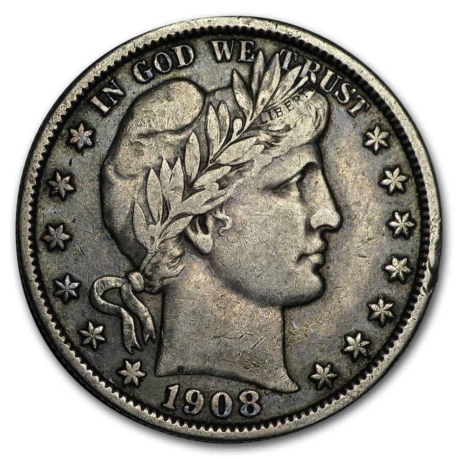 1908 Barber Half Dollar VF