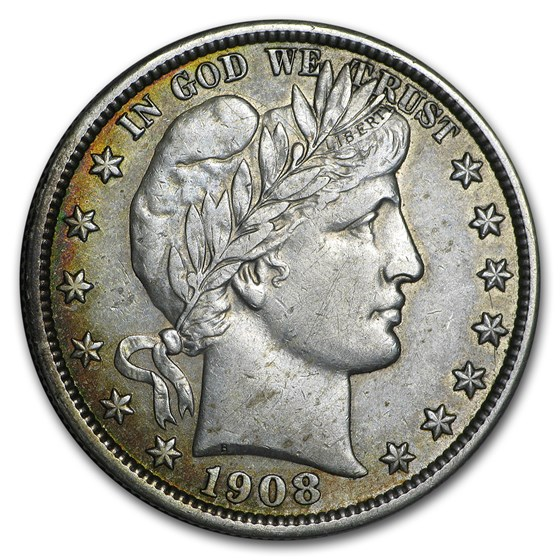 1908 Barber Half Dollar XF