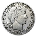 1908-D Barber Half Dollar Fine