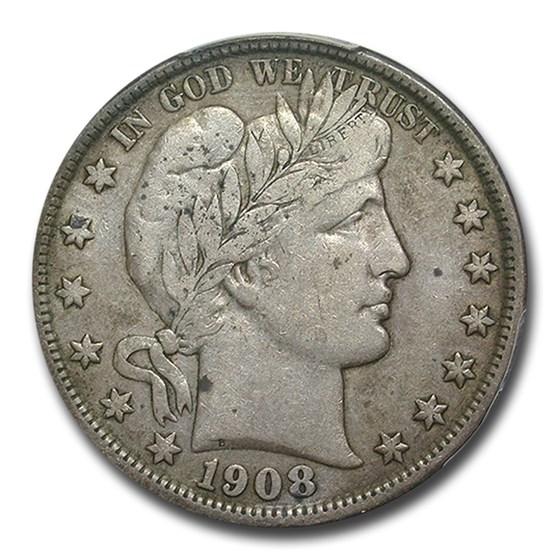 1908-D Barber Half Dollar VF-30 PCGS