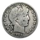 1908-D Barber Half Dollar VG