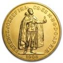 1908 Hungary Gold 100 Korona AU/BU (Restrike)