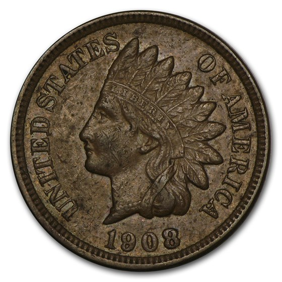 1908 Indian Head Cent AU