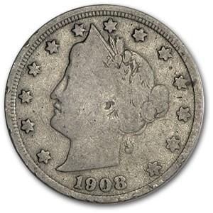 1908 Liberty Head V Nickel Good+