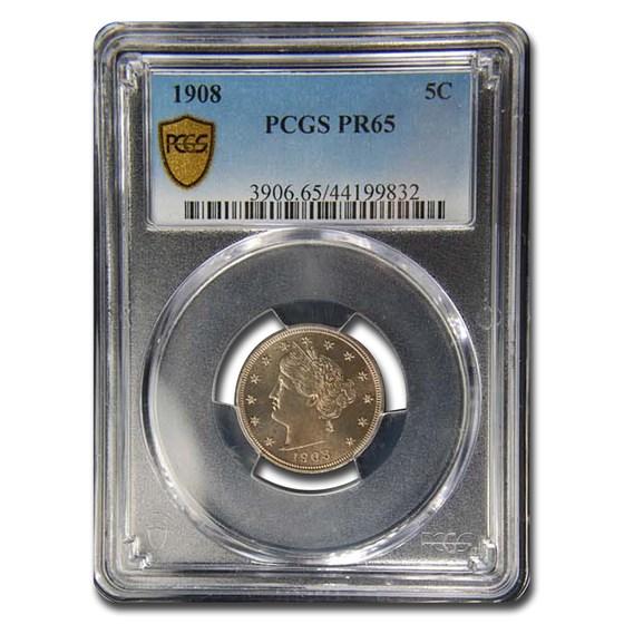1908 Liberty Head V Nickel PR-65 PCGS