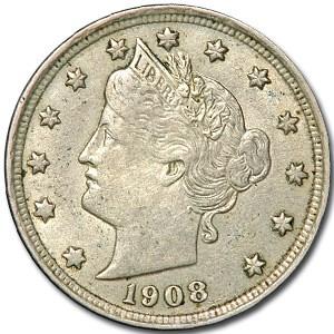 1908 Liberty Head V Nickel XF