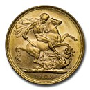 1908-M Australia Gold Sovereign George V BU