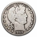 1908-O Barber Half Dollar Good