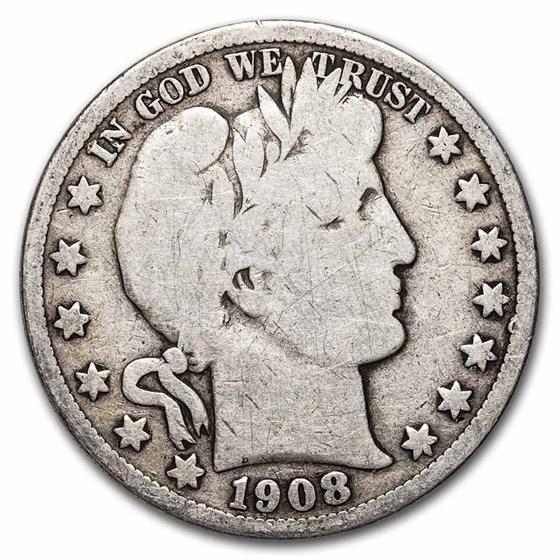 1908-O Barber Half Dollar Good