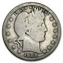 1908-O Barber Quarter Good