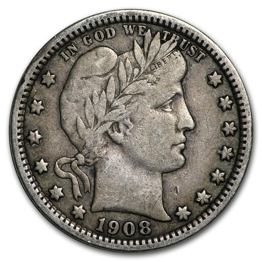 1908-O Barber Quarter VF