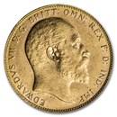 1908-P Australia Gold Sovereign Edward VII BU