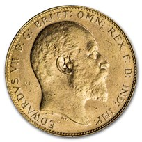 1908-P Australia Gold Sovereign Edward VII BU