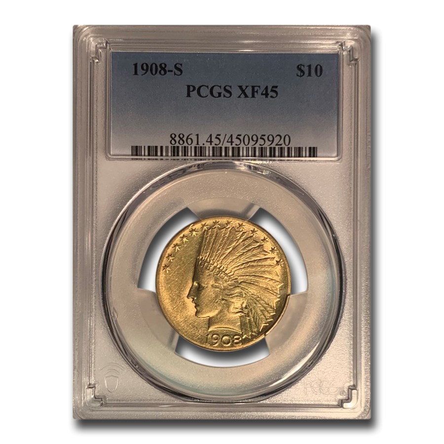 1908-S $10 Indian Gold Eagle XF-45 PCGS