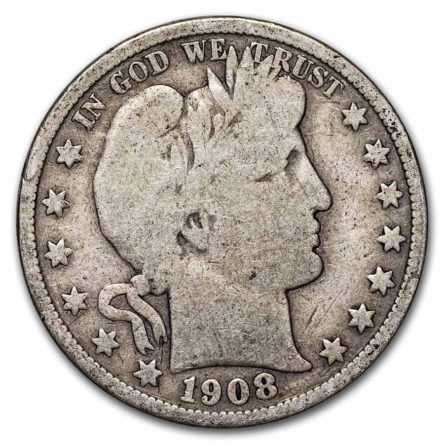 1908-S Barber Half Dollar Good