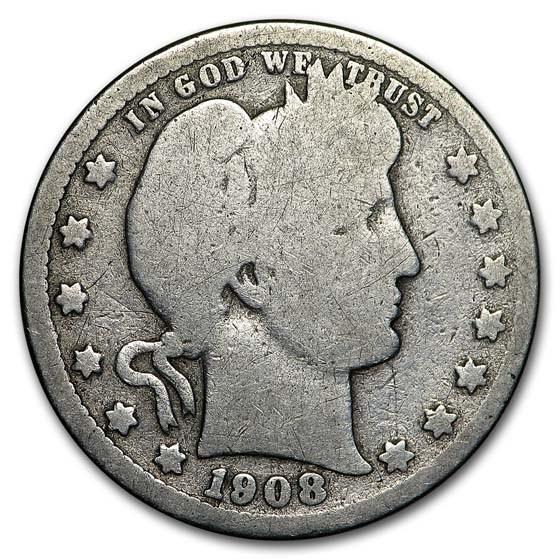1908-S Barber Quarter Good (Details)