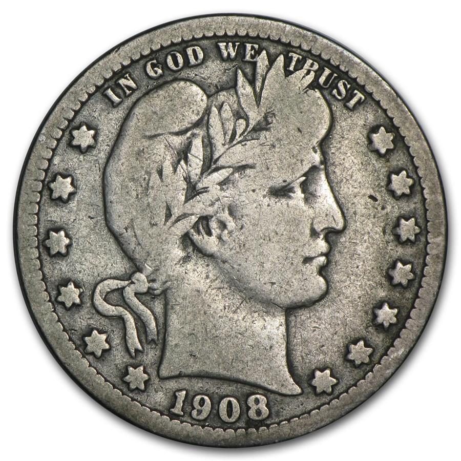 1908-S Barber Quarter VG