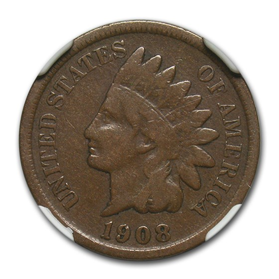 1908-S Indian Head Cent Fine-15 NGC