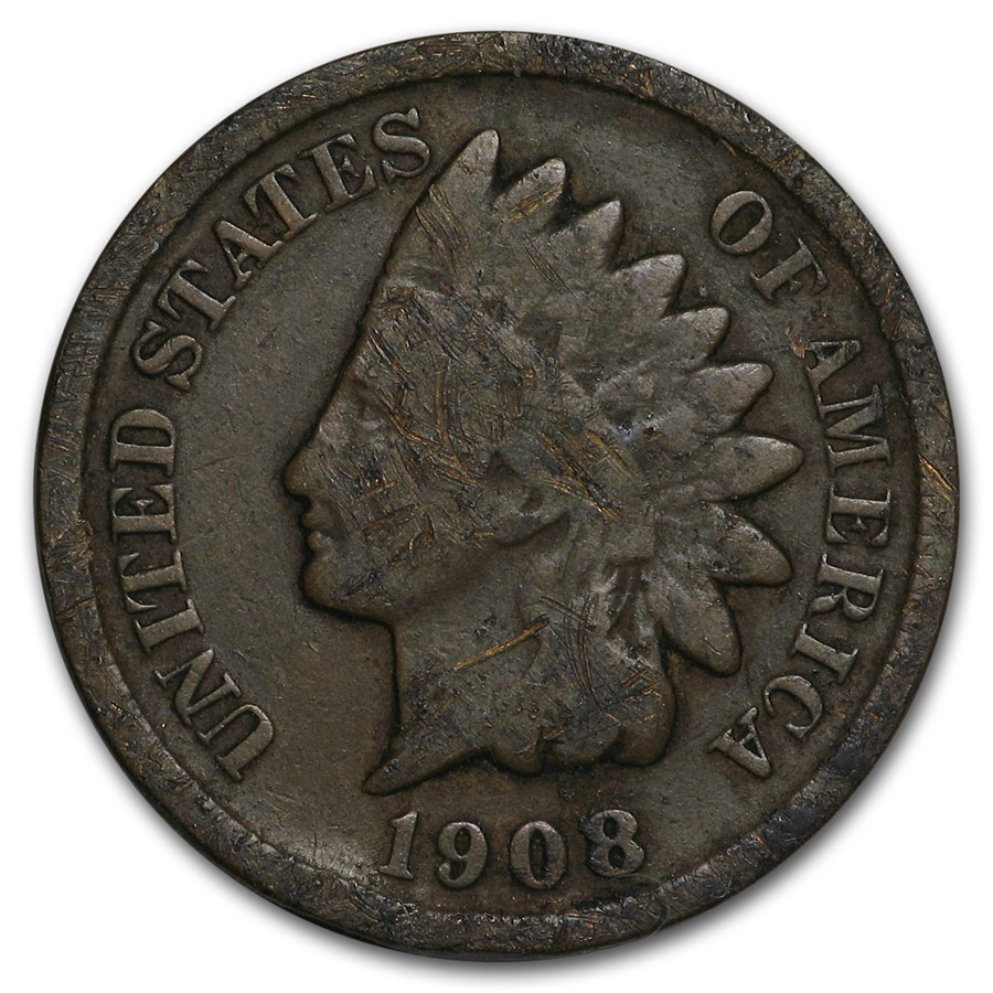 1908-S Indian Head Cent Good