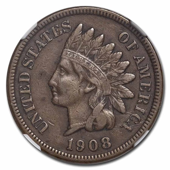 1908-S Indian Head Cent XF-40 NGC (Brown)