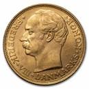 1908-VBP Denmark Gold 20 Kroner Christian X BU