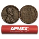 1909-1958 Wheat Cent 50-Count Roll Avg Circ