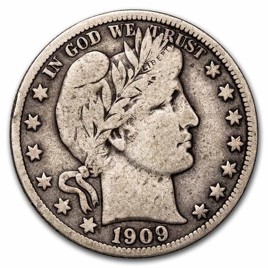 1909 Barber Half Dollar Fine