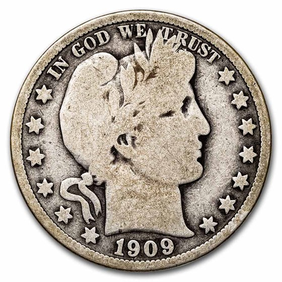 1909 Barber Half Dollar Good