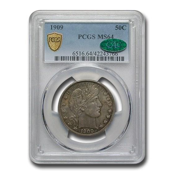 1909 Barber Half Dollar MS-64 PCGS CAC