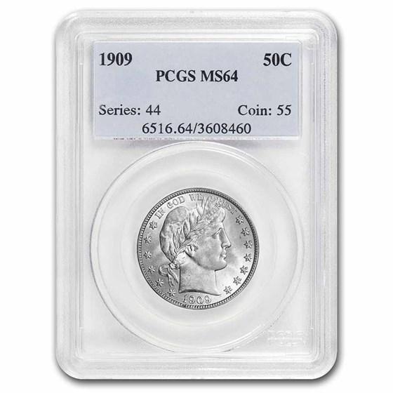 1909 Barber Half Dollar MS-64 PCGS