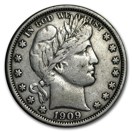 1909 Barber Half Dollar VF