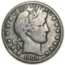 1909 Barber Half Dollar VG