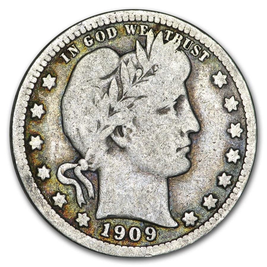 1909 Barber Quarter Good/VG