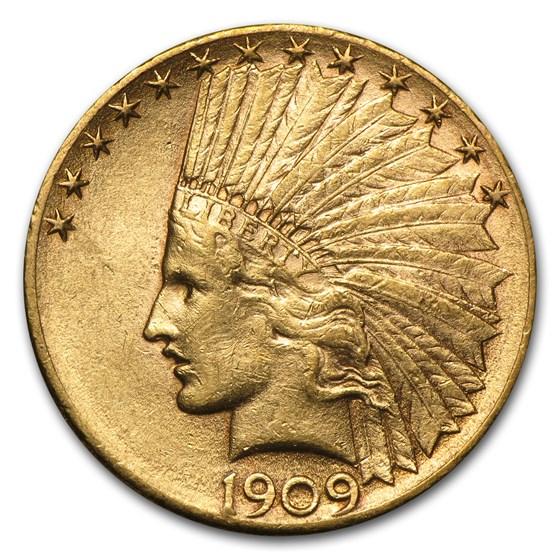 1909-D $10 Indian Gold Eagle AU