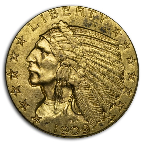 1909-D $5 Indian Gold Half Eagle XF