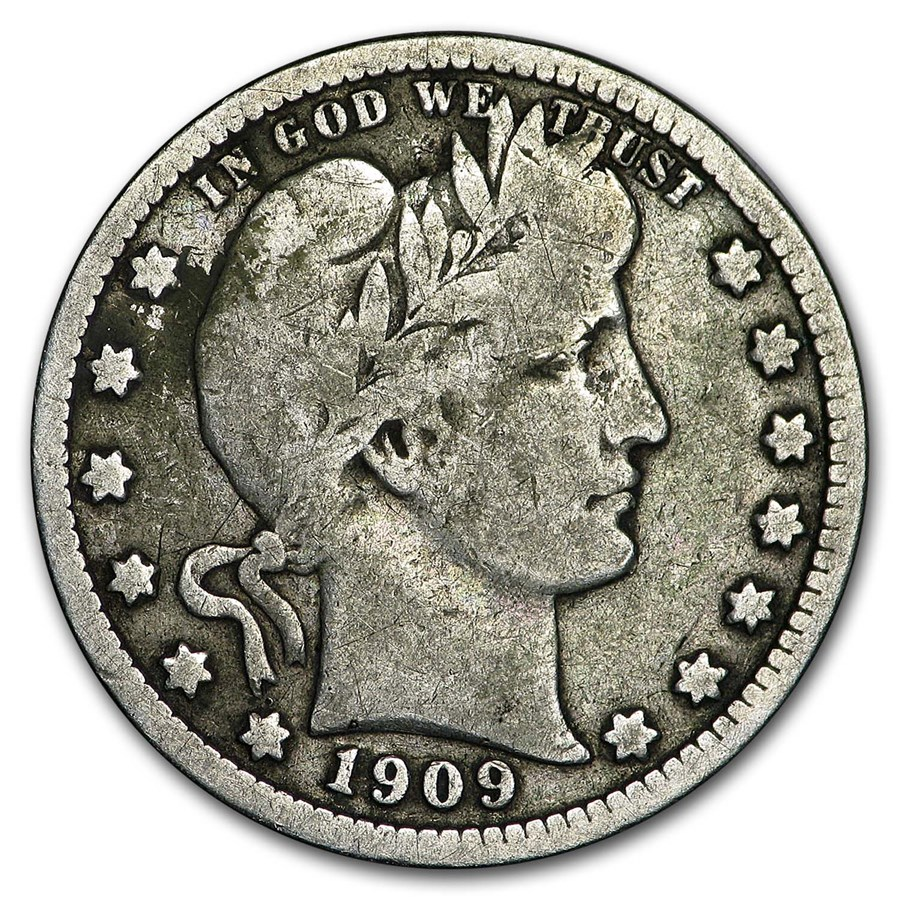 1909-D Barber Quarter VG