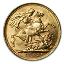 1909 Great Britain Gold Sovereign Edward VII BU