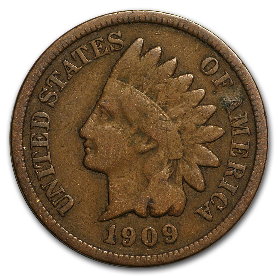 1909 Indian Head Cent Fine