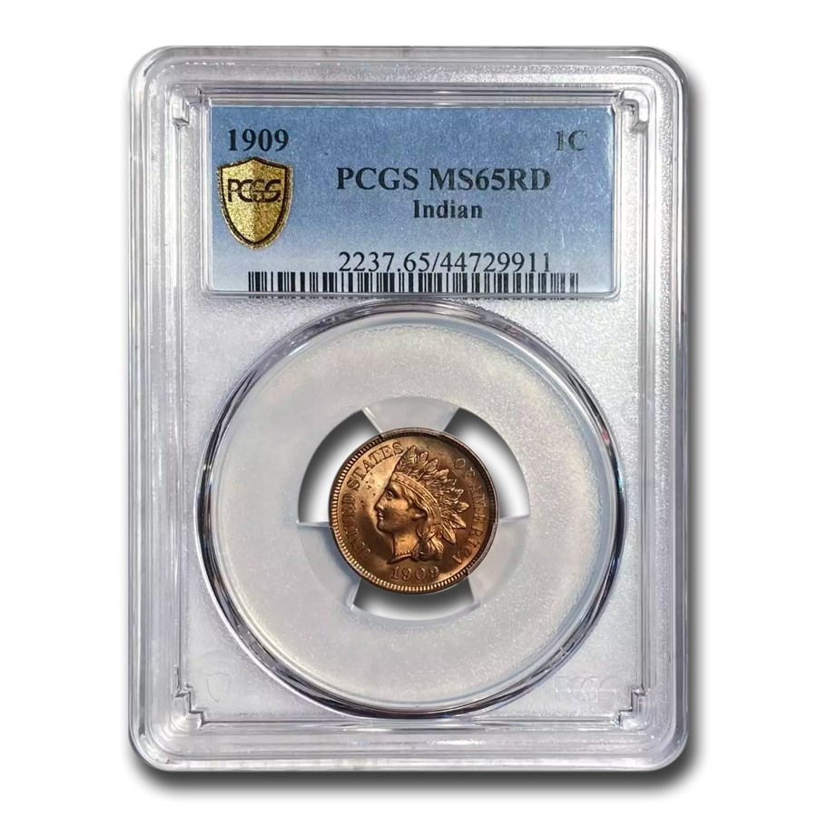 1909 Indian Head Cent MS-65 PCGS (Red)