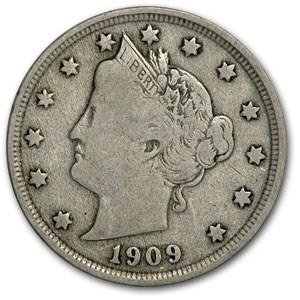 1909 Liberty Head V Nickel Fine