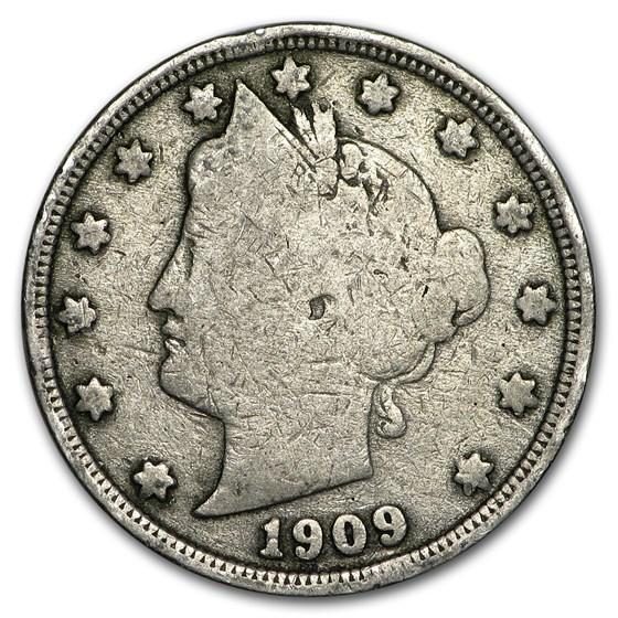 1909 Liberty Head V Nickel Good+